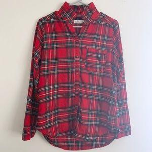 Hollister Red Flannel Button Down Shirt